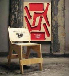 Nestle + The Kit Kat Chair Poster - J. Walter Thompson New Zealand
