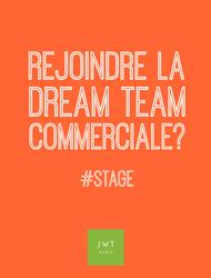 Join JWT: STAGE COMMERCIAL - JWT Paris