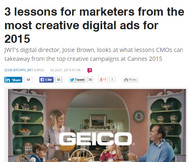 J. Walter Thompson + 3 lessons for marketers from the most creative digital ads for 2015 - J. Walter Thompson Sydney