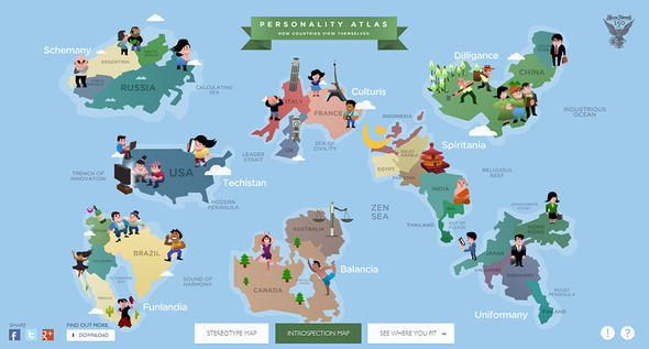 JWTIntelligence + Personality Atlas - What country are you really from? - JWT Worldwide