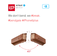 "Nestle + The KitKat #Bendgate tweet is now bigger than the Oreo ""dunk in the dark"" Superbowl one - J. Walter Thompson London"