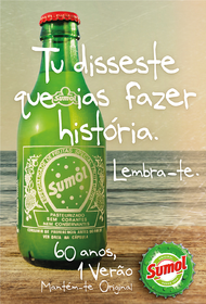Sumol+Compal + 60 years, 1 single Summer.  Sumol. Stay True. - J. Walter Thompson Lisboa