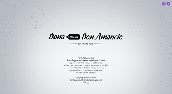 JWT Spain + Donate more than Don Amancio - J. Walter Thompson Madrid