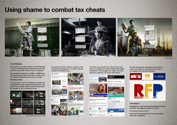 Millenium Challenge Account Philippines + Carry Campaign: Use of shame and concern for underdog to combat tax cheats - J. Walter Thompson Manila
